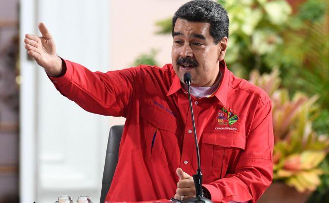 ZDA so doslej proti vladi Nicolasa Madura državnim podjetjem in posameznikom uvedle že več sankcij, tokratni ukrep pa je obsežen. FOTO: Federico Parra/AFP
