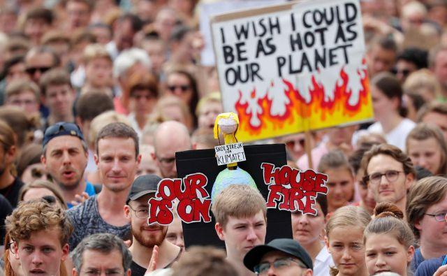 V nemškem proračunu ni predvidenih dovolj sredstev za financiranje boja proti podnebnim spremembam. Foto Reuters