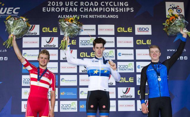 Alberto Dainese je novi evropski prvak med mlajšimi člani. FOTO: AFP