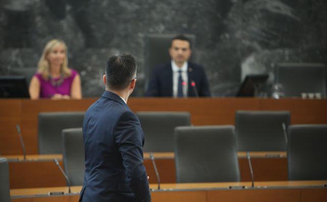 Marjan Šarec in Matej Tonin. FOTO: Jure Eržen/Delo