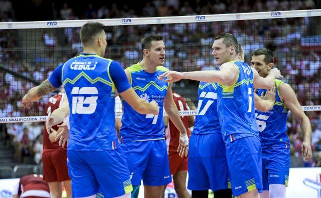 Slovenci so dokazali, da lahko enakovredno igrajo tudi z najboljšimi reprezentancami na svetu. FOTO: FIVB