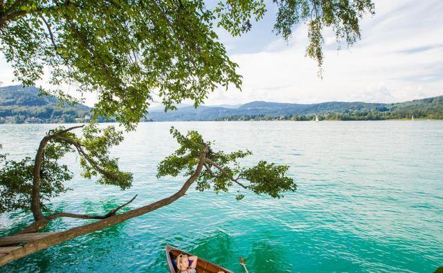 Idila na Vrbskem jezeru. FOTO: Tine Steinthaler/Kärnten Werbung