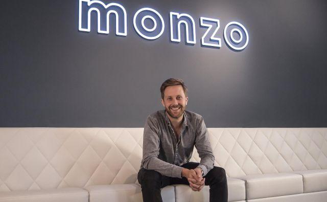 Direktor digitalne banke Monzo Tom Blomfield skrbi za 1,2 milijarde depozitov. Foto Monzo