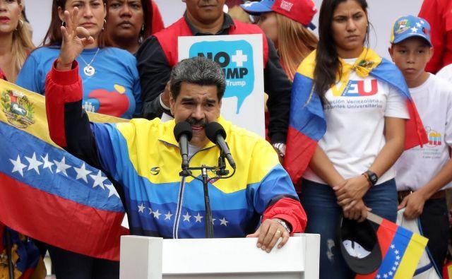 Venezuelski predsednik Nicolás Maduro. FOTO: Manaure Quintero/Reuters