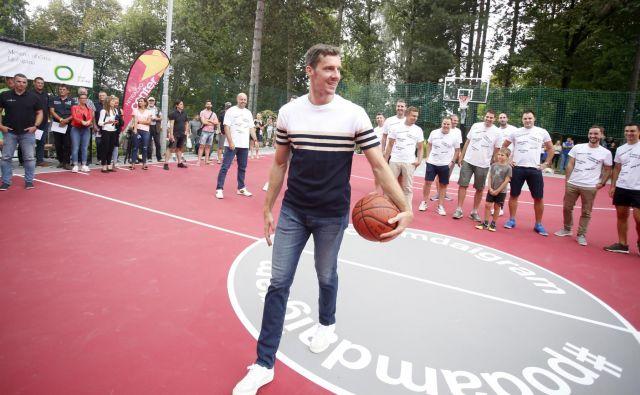 Goran Dragić je ponosen na igrišču v Tivoliju. FOTO: Roman Šipić