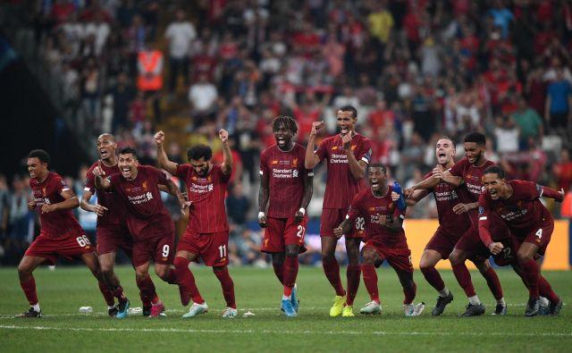 Liverpool je četrtič osvojil evropski superpokal. FOTO: AFP