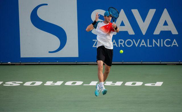 Blaž Rola za zdaj navdušuje na turnirju v Portorožu. FOTO: Sportida