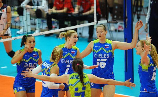 Slovenske odbojkarice bi rade po kateri od tekem prvič zarajale zaradi zmage na evropskih prvenstvih. FOTO: Aleš Oblak/OZS