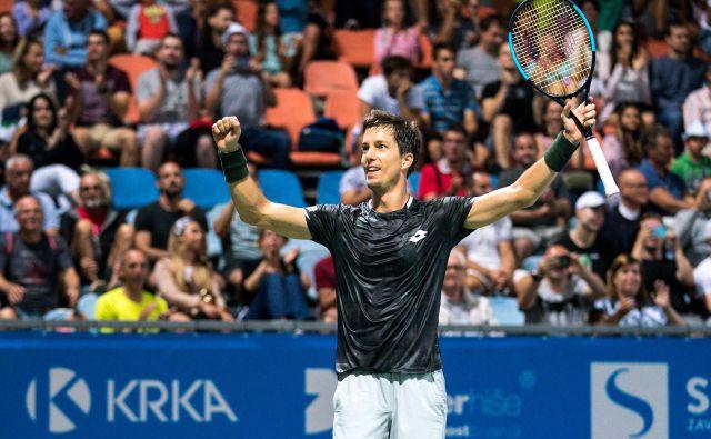 Aljaž Bedene sicer ni odigral najboljšega turnirja, a kljub temu je bilo to dovolj za njegov prvi naslov v Portorožu. FOTO: Sportida