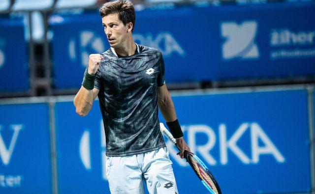 Aljaž Bedene si bo danes poskušal zagotoviti 16. naslov na turnirjih iz serije challenger. FOTO: Sportida