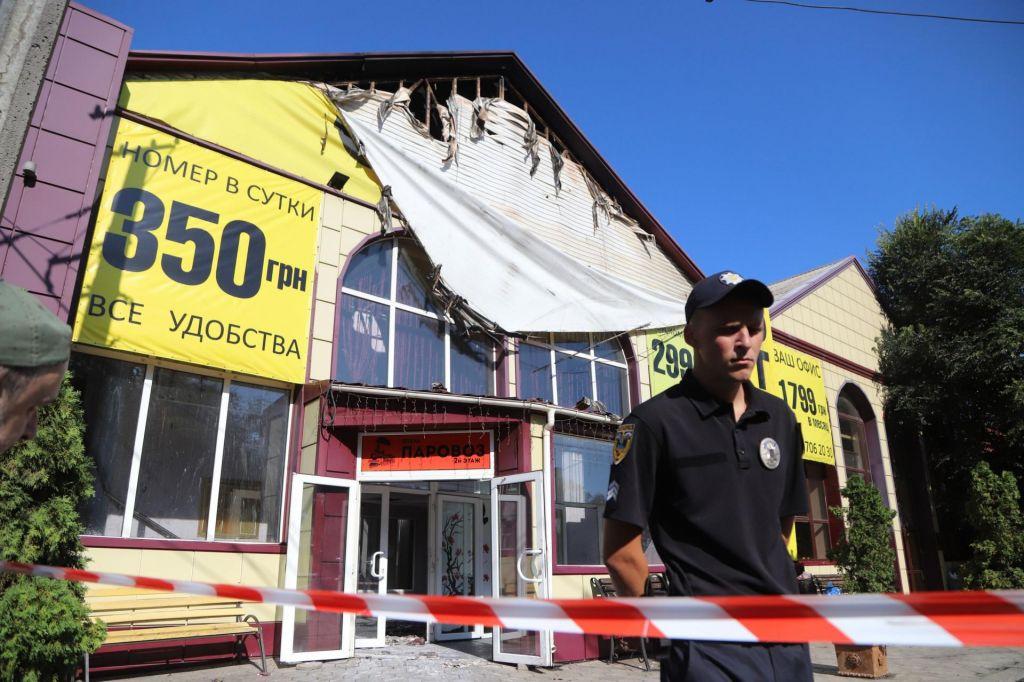 FOTO:V hotelskem požaru v Odesi najmanj devet mrtvih