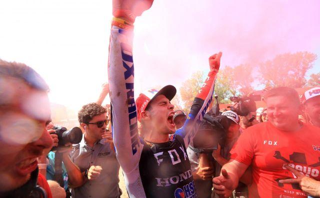 Tim Gajser je postal svetovni prvak v razredu MXGP. FOTO: Matej Družnik