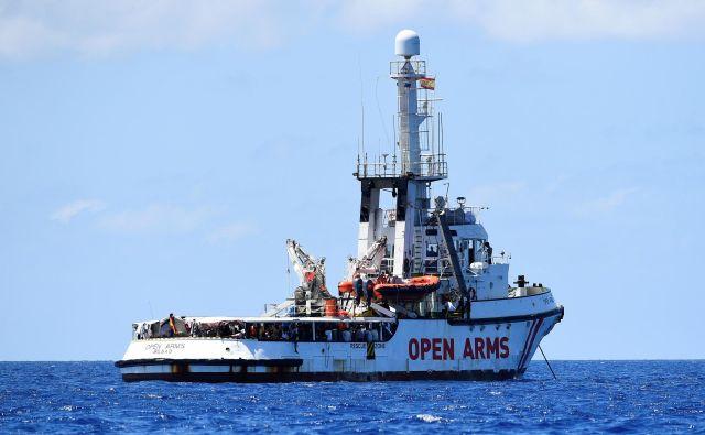 Reševalna ladja katalonske nevladne organizacije <em>Pro Activa Open Arms.</em>Foto: Reuters
