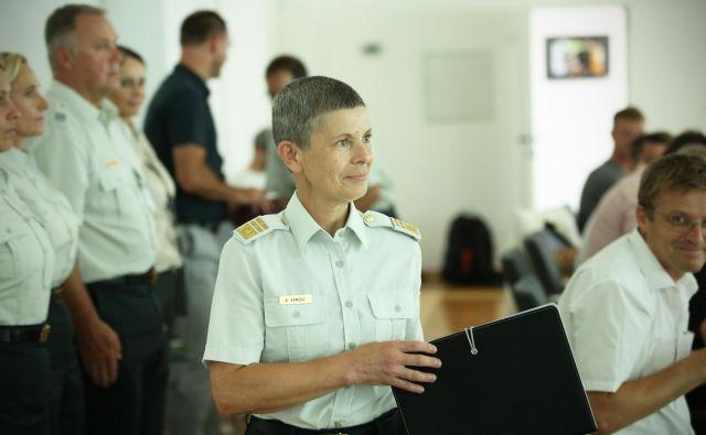 Generalmajorka Alenka Ermenc, načelnica Generalštaba Slovenske vojske. FOTO: Jure Eržen/Delo
