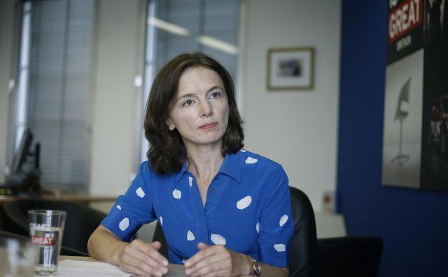 Britanska veleposlanica vztraja, da Združeno kraljestvo tokrat misli resno in da bo 31. oktobra izstopilo iz EU. Foto Blaž Samec