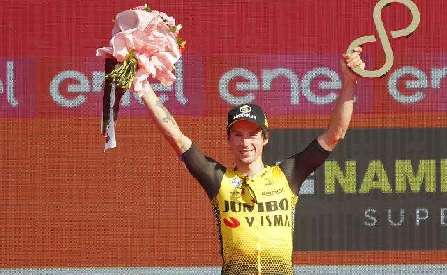 Primož Roglič je letošnji Giro končal na 3. mestu, na Vuelti pa meri višje. FOTO: Leon Vidic/Delo