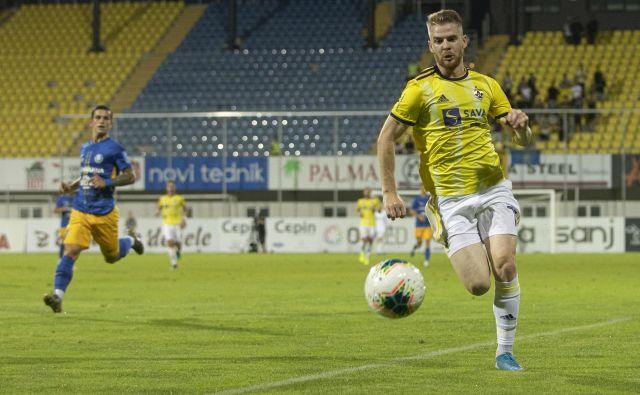 Prvo tekmo med Ludogorcem in Mariborom je v Razgradu od prve minute igral tudi najučinkovitejši Mariborčan v zadnji tekmah Rudi Požeg Vancaš. FOTO: Voranc Vogel/Delo