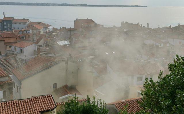 Požar v Piranu. Foto Boris Šuligoj