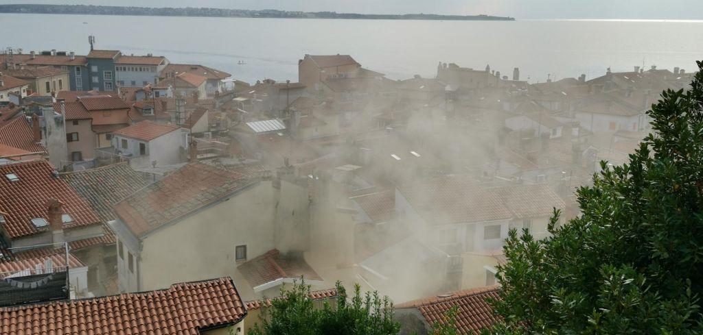 FOTO:V piranskem mestnem jedru je gorelo