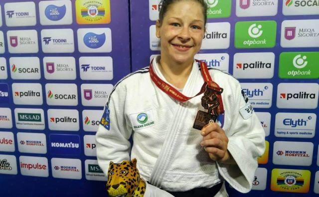 Tina Trstenjak si je na lanskem svetovnem prvenstvu v Bakuju izbojevala bronasto kolajno. FOTO: Miha Šimnovec