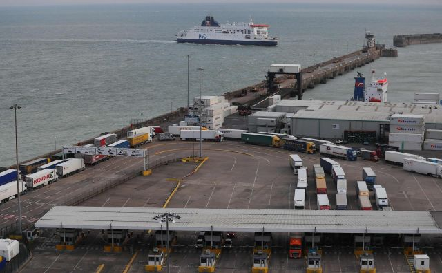 Voznika so prijeli v terminalu pristanišča Dover. FOTO: Daniel Leal-olivas/Afp