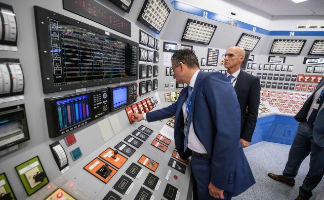 MarjanŠarec je potrebo po postavitvi drugega bloka krške nuklearke omenil ob včerajšnjem obisku v Krškem. FOTO: Gen energija