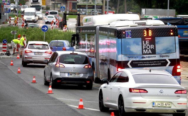Krožišče na Škofljici,Ljubljana Slovenija 23.08.2019 [Promet] Foto Roman Šipić