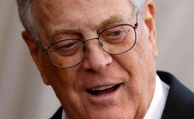 Forbes je premoženje Davida Kocha ocenil na 42,4 milijarde ameriških dolarjev. FOTO: Lucas Jackson/Reuters