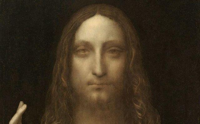 Restavrirani portret Jezusa (olje na orehovem lesu, 65,5 x 45 cm), ki v levi roki drži zemeljsko kroglo, simbol vesoljne oblasti, z desno pa blagoslavlja. Foto Wikipedija