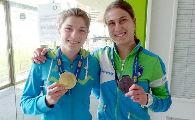 Sestri Maruša in AnjaŠtangar bosta od slovenskih judoistov prvi stopili na blazine v Tokiu. FOTO: Miha Šimnovec