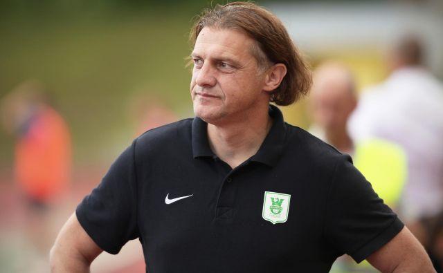 Trener Olimpije Safet Hadžić je tokrat računal tudi na branilca Mackyja Bagnacka, ki je sicer bil pred odhodom v tujino. Foto Jure Eržen