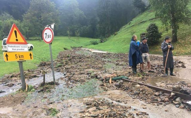 Posledice poplav v Vuzenici. FOTO: Veronika Rudolf Oka/Neurje.si