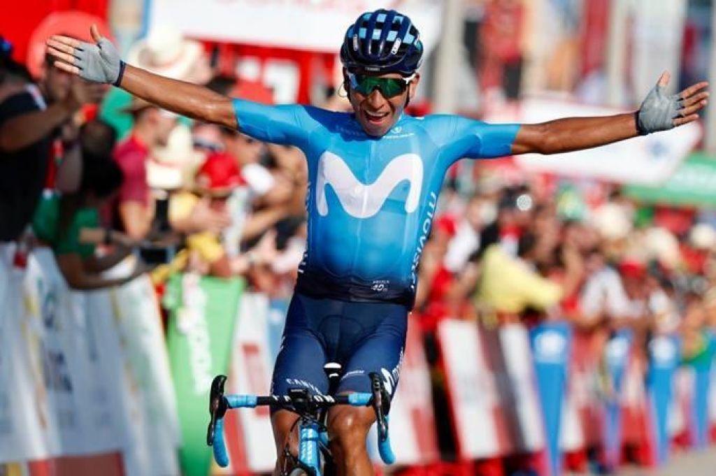 FOTO:Quintanaje zmagovalec, Roglič na tretjem mestu