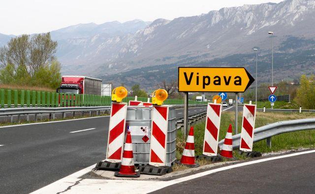 Vipavska hitra cesta bo znova zaprta. FOTO: Marko Feist