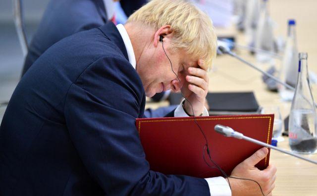 Johnson je zatrdil, da je neobstoj finančnih obveznosti ob morebitnem kaotičnem izstopu »preprosto odsev realnosti«. Foto: Dylan Martinez/Reuters