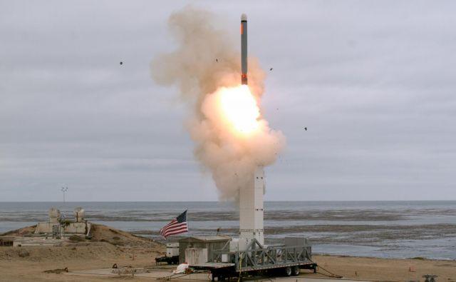 Ameriški preizkus rakete tomahavk na kalifornijskem otoku San Nicolas. Foto: Reuters