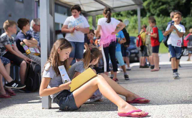 Počitnice se končujejo, v ponedeljek se začne novo šolsko leto. FOTO Tomi Lombar/Delo