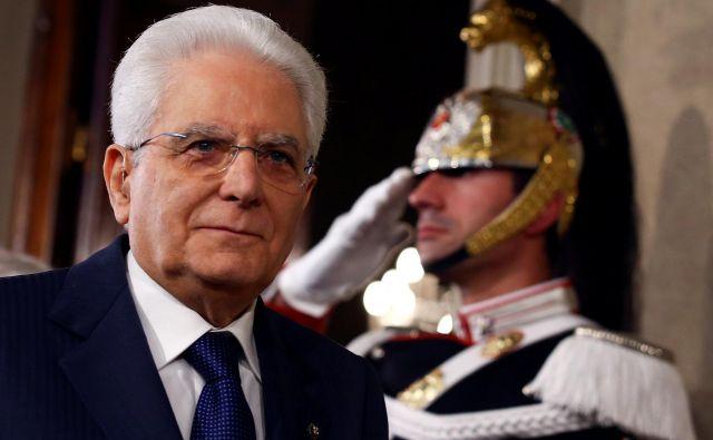 Italijanski predsednik Sergio Mattarella si je vzel čas, da odposluša mnenja vseh političnih akterjev. FOTO: Reuters