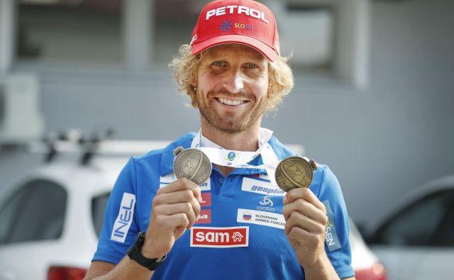 Klemen Bauer je bil biatlonsko odličen že poleti, kaj bo šele pozimi. FOTO: Leon Vidic