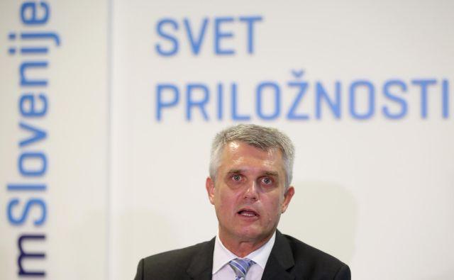 V torek imenovani predsednik uprave Telekoma Slovenije Matjaž Merkan se bo danes prvič predstavil tudi delničarjem. Foto Matej Družnik/Delo