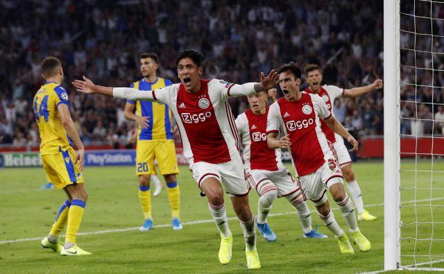 Apoel je na povratni tekmi proti Ajaxu izgubil z 0:2, prva tekma se je končala z 0:0. FOTO: Maurice Van Steen/AFP