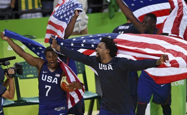 Na OI 2016 v Riu so bili ameriški košarkarji največji domoljubi, letošnje svetovno prvenstvo pa jih ni pritegnilo. FOTO: Reuters