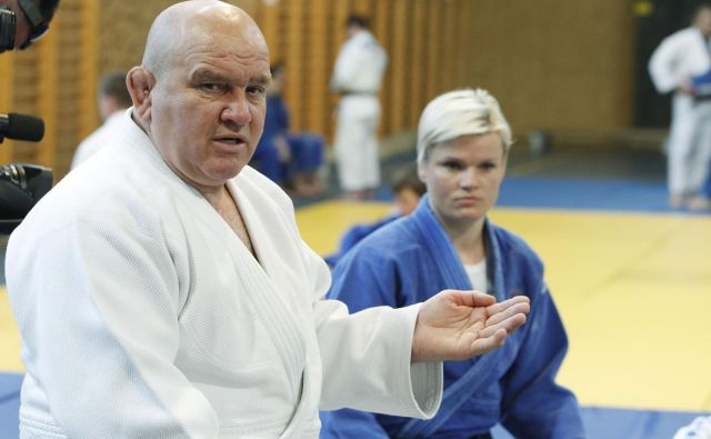 Marjan Fabjan (na fotografiji z Urško Žolnir) leto za letom potrjuje, da je eden od najboljših trenerjev juda na svetu. FOTO: Leon Vidic