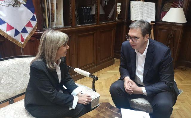 ▶ Majo Pavlović je po 18 dneh gladovne stavke vendarle sprejel srbski predsednik Aleksandar Vučić in stavka je za zdaj končana. Foto Tanjug