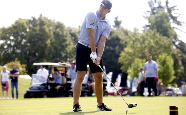 Igranje golfa je med najljubšimi konjički našega vodilnega hokejista. FOTO: Roman Šipić