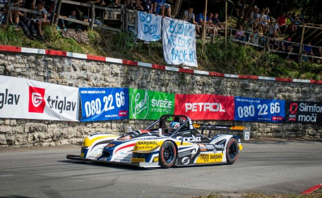 Italijanski dirkač Simone Faggioli je bil z normo M20FC (na fotografiji) prepričljivo najhitrejši na progi od Ilirske Bistrice do Šembij. FOTO: Luka Gregorič