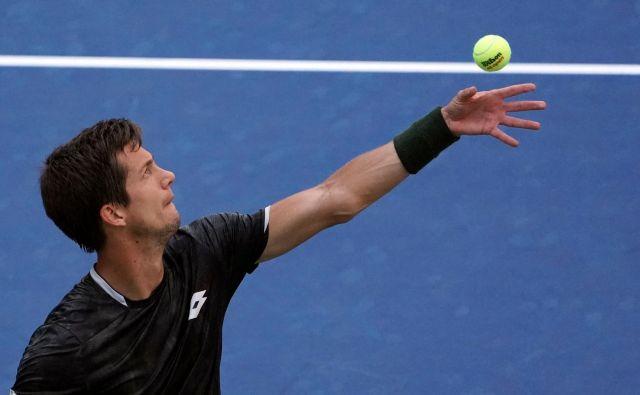 Aljaž Bedene se je več kot tri ure in pol upiral šestemu igralcu sveta Aleksandru Zverovu. FOTO: AFP