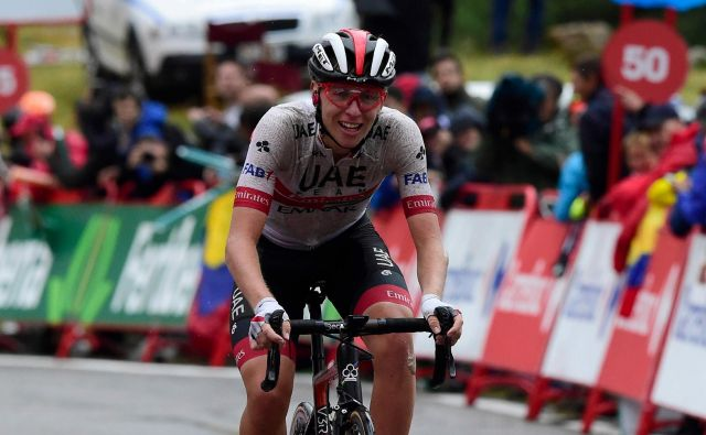 Tadej Pogačar je veliko zmagovalec devete etape! Foto: AFP