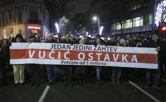 Opozicijski protesti proti vladajočim v državi v Srbiji niso prinesli sprememb. Foto Jože Suhadolnik