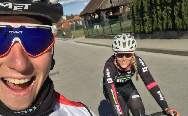 Selfi s Tadejemna enem izmed spomladanskih treningov. Foto: osebni Arhiv